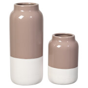 Broste Copenhagen Raw Stoneware Vase - Set of 2