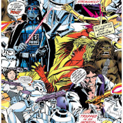 Star Wars Cartoon Retro Wallpaper