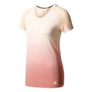adidas Women's Primeknit Wool Dip-Dye Running T-Shirt - Easy Coral