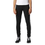 adidas Women's D2M 3 Stripe Cuff Jogging Pants - Black/White