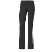 adidas Women's D2M 3 Stripe Jogging Pants - Black/White