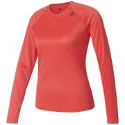 adidas Women's D2M Long Sleeve Top - Core Pink