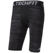 adidas Men's TechFit Base GFX Compression Shorts - Black