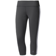 adidas Women's D2M 3 Stripe 3/4 Tights - Black/White