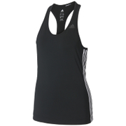 adidas Women's D2M 3 Stripe Tank Top - Black