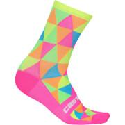 Castelli Fausto Socks - Multicolour Fluo
