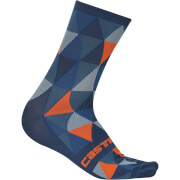 Castelli Fausto Socks - Multicolour Anthracite/Pale Blue