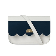 The Cambridge Satchel Company Women's Cloud Bag - Clay with Printed Navy Stripe