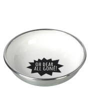 Parlane 'All Gone' Aluminium Bowl - White/ Black (13cm)