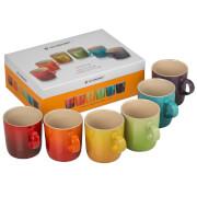Le Creuset Stoneware Rainbow Mugs (Set of 6)