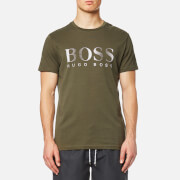 BOSS Hugo Boss Men's Large Logo Swim T-Shirt - Dark Green