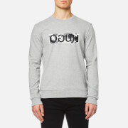 HUGO Men's Dicagos Reverse Logo Sweater - Grey