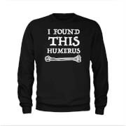 Humerus Slogan Sweatshirt - Black