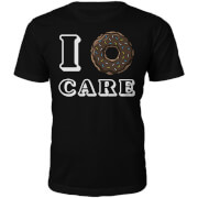 I Donut Care Slogan T-Shirt - Black
