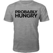 Probably Hungry Slogan T-Shirt - Grey