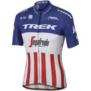 Sportful Trek-Segafredo BodyFit Pro Team USA Champion Short Sleeve Jersey - White/Blue/Red