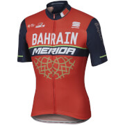 Sportful Bahrain Merida BodyFit Pro Team Short Sleeve Jersey - Red/Blue