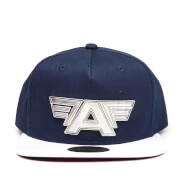Marvel Captain America: Civil War Metal Plate Logo Snapback Cap - Blue/White