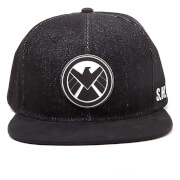 Marvel The Avengers Shield Logo Snapback Cap - Black
