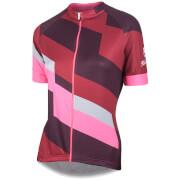 Nalini Women's Stripe Short Sleeve Jersey - Brown/Pink