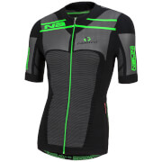 Nalini San Zeno Short Sleeve Compression Jersey - Black/Green