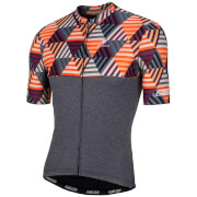 Nalini San Babila Short Sleeve Jersey - Black/Orange