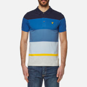 Lyle & Scott Men's Engineered Stripe Polo Shirt - Navy