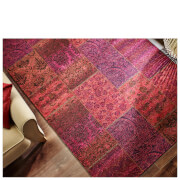 Flair Manhattan Patchwork Rug - Chenille Purple