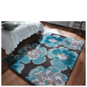 Flair Dapple Pansy Rug - Teal/Ochre