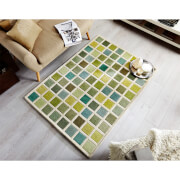 Flair Illusion Tonal Rug - Campari Green/Cream