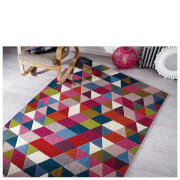 Flair Illusion Prism Rug - Pink/Multi