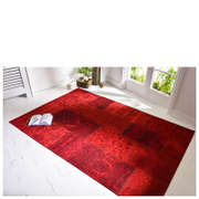Flair Manhattan Patchwork Rug - Chenille Red