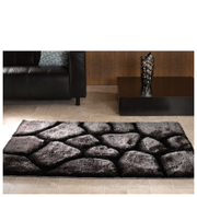 Flair Verge Brook Rug - Black/Silver