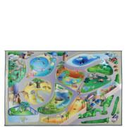 Flair Non-Slip Playmat Rug - Zoo Map Multi (75X112)