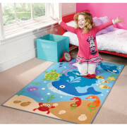Flair Matrix Kiddy Rug - Under The Sea Blue(100X160)