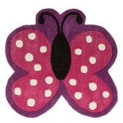 Flair Kiddy Play Rug - Polka Butterfly Multi (90X90)