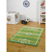 Flair Kiddy Play Rug - Football Pitch Green (110X160)