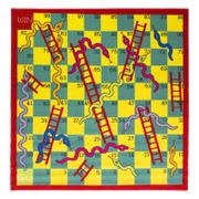 Flair Matrix Kiddy Rug - Snake And Ladder Multi (133X133)