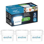 Aqua Optima 3 x 30 Day Evolve Water Filter Cartridges Fits BRITA MAXTRA Jugs (3 Month Pack)