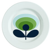 Orla Kiely Enamel Plate 70's Flower - Apple