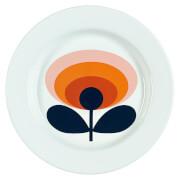 Orla Kiely Enamel Plate 70's Flower - Permission