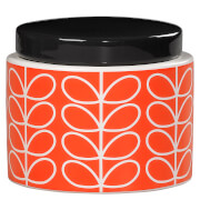 Orla Kiely Small Storage Jar - Persimmon