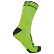 Alé Power 15cm Cuff Cycling Socks - Green/Black