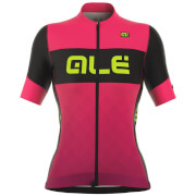 Alé Women's R-EV1 Rumbles Jersey - Black/Pink/Yellow