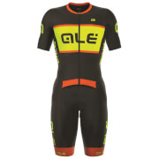 Alé R-EV1 Strada Race Skinsuit - Black/Yellow/Orange