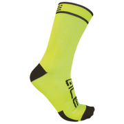 Alé Power 15cm Cuff Cycling Socks - Yellow/Black