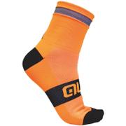 Alé Reflex 10cm Cuff Cycling Socks - Orange/Black