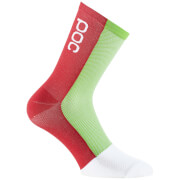 POC Cannondale Drapac Replica Socks - Black/Green/Red