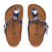 Birkenstock Women's Gizeh Patent Toe Post Sandals - Dress Blue