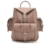Grafea Women's Medium Leather Rucksack - Willow